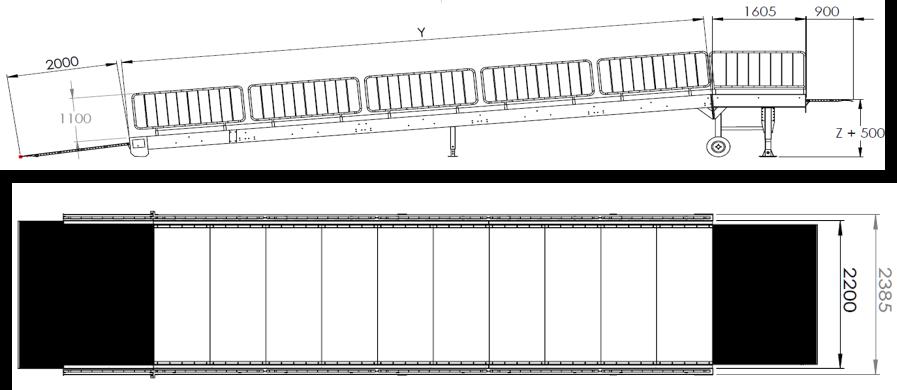 rampa da piazzale - disegno tecnico